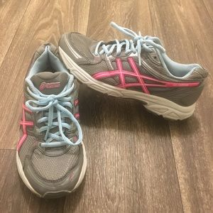 ASICS Gray/Pink/Blue Athletic Shoes